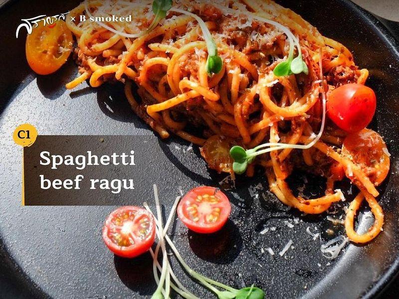 (C1) Spaghetti beef ragu (สปาเกตตี บีฟ รากุ)